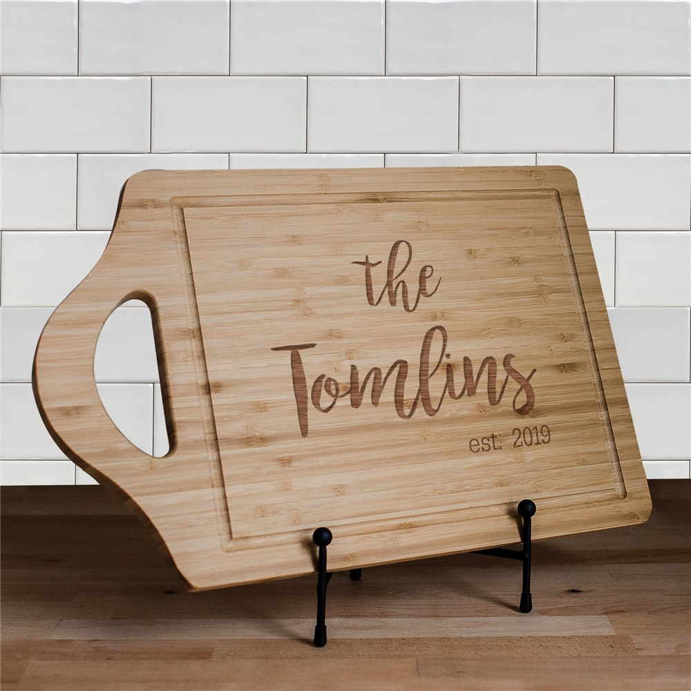 Engraved Family Established Cutting Board | Engraved Cutting Boards