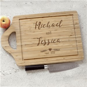 Engraved Couples Established Cutting Board | Engraved Cutting Boards