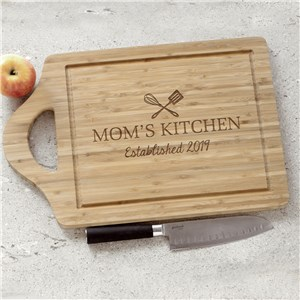 Engraved Moms Kitchen Cutting Board  L12733169X
