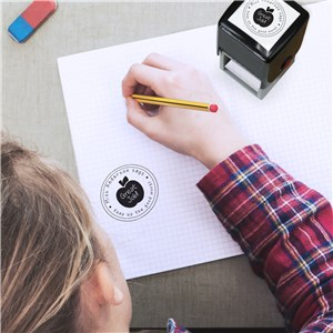 Personalized Apple Square Stamper | Personalized Self-Inking Stamps