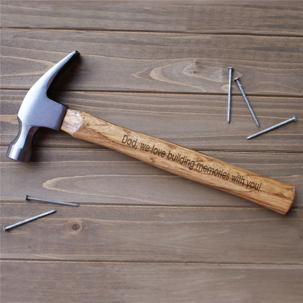 Engraved Father's Day Wood Hammer | Engraved Hammer