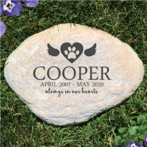 Personalized Always In Our Hearts Memorial Stone | Pet Memorial Stones Personalized