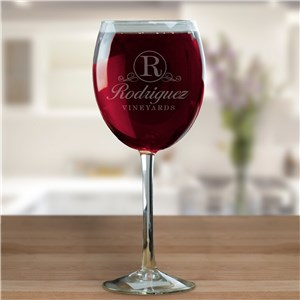 Family Vineyard Wine Glass | Personalized Wine Glasses