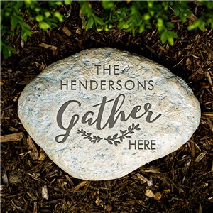 Gather Engraved Garden Stone | Engraved Garden Stone