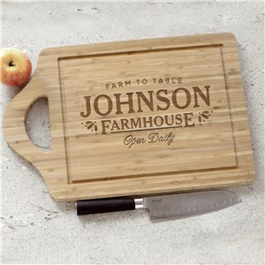 Engraved Farmhouse Cutting Board | Personalized Cutting Boards