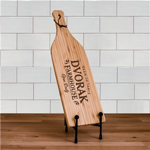 Engraved Farmhouse Wine Bottle Cutting Board | Personalized Cutting Boards