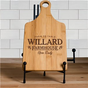 Farmhouse Engraved Paddle Cutting Board | Personalized Cutting Boards