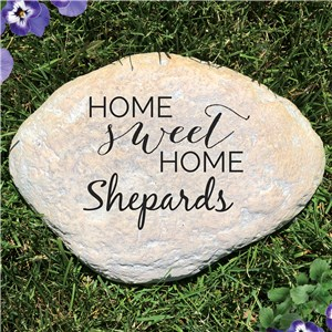 Home Sweet Home Personalized Garden Stone | Personalized Outdoor Home Decor