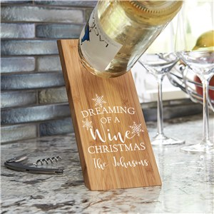 Dreaming of a Wine Christmas Wine Bottle Holder | Personalized Christmas Wine Bottle Holder