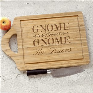 Gnome Sweet Gnome Engraved Cutting Board | Personalized Cutting Boards