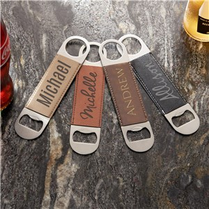 Create Your Own Leather Engraved Bottle Opener | Custom Bottle Openers