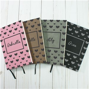 Personalized Notebooks | Engraved Journal with Hearts