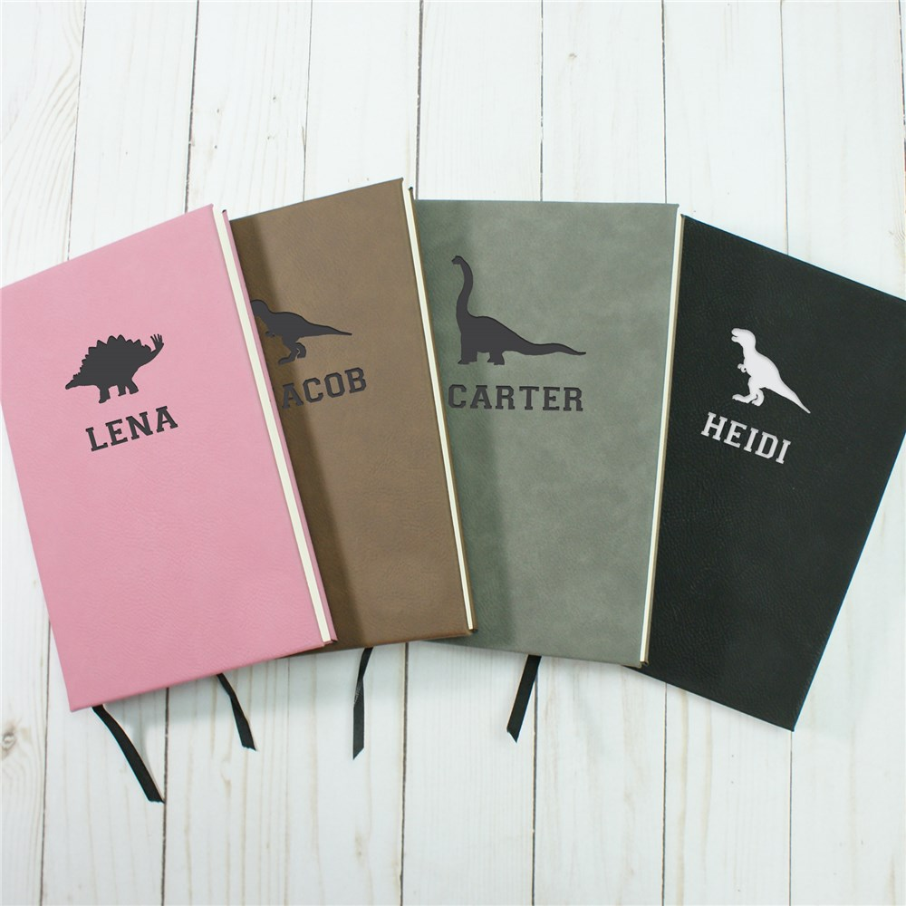 Personalized Leather Notebook | Dinosaur Gifts