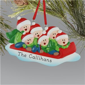 Personalized Family Sledding Ornament L13592253X