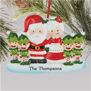 Family Christmas Ornaments | Elf and Santa Christmas Ornaments