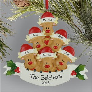 Personalized Reindeer Family Ornament L13595252X