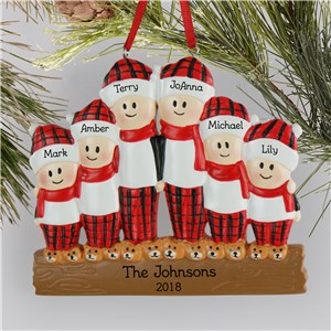 Personalized Flannel Family Ornament L13596254X