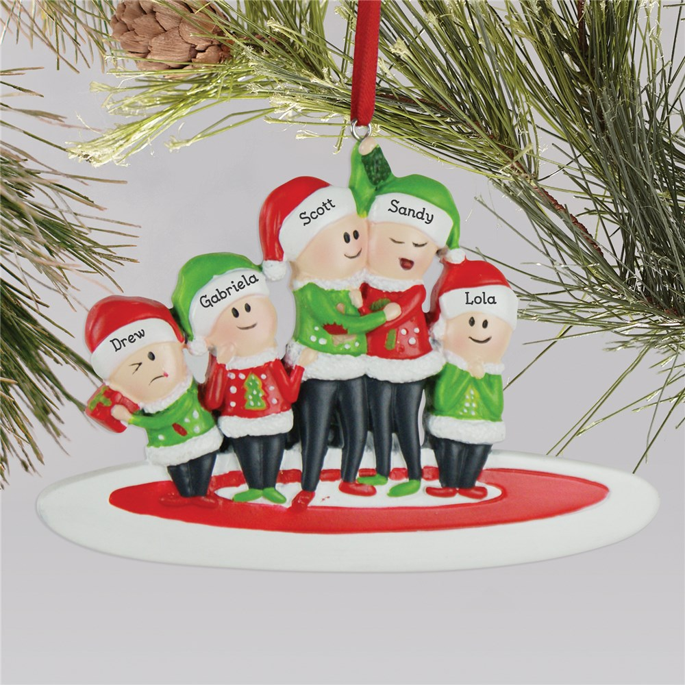 Personalized Ugly Sweater Family Ornament L13598250X