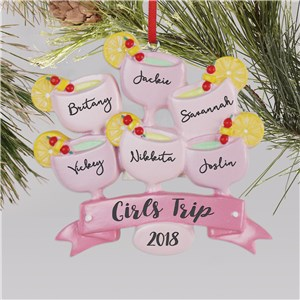 Personalized Girls Trip Ornament L13599235