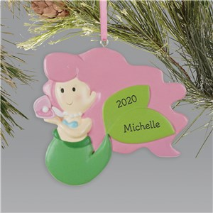 Mermaid Christmas Ornament | Christmas Ornament