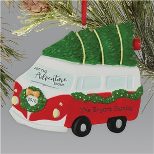 Bus Christmas Ornament | Personalized Christmas Ornament