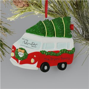 Personalized Let The Adventure Begin Bus Ornament  L13602238