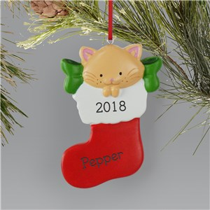 Personalized Cat Stocking Ornament  L13603239