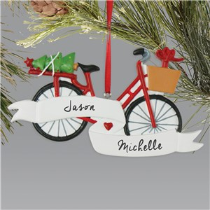Personalized Bicycle Ornament L13605241