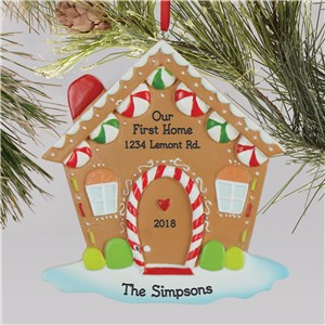 Gingerbread House Ornament | Our First Home Ornament