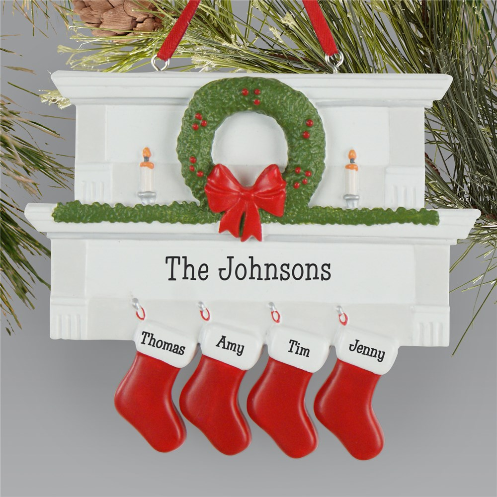 Family Christmas Ornament | Stocking Christmas Ornament