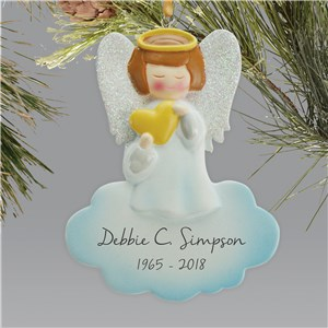 Personalized Angel Memorial Ornament L13610258