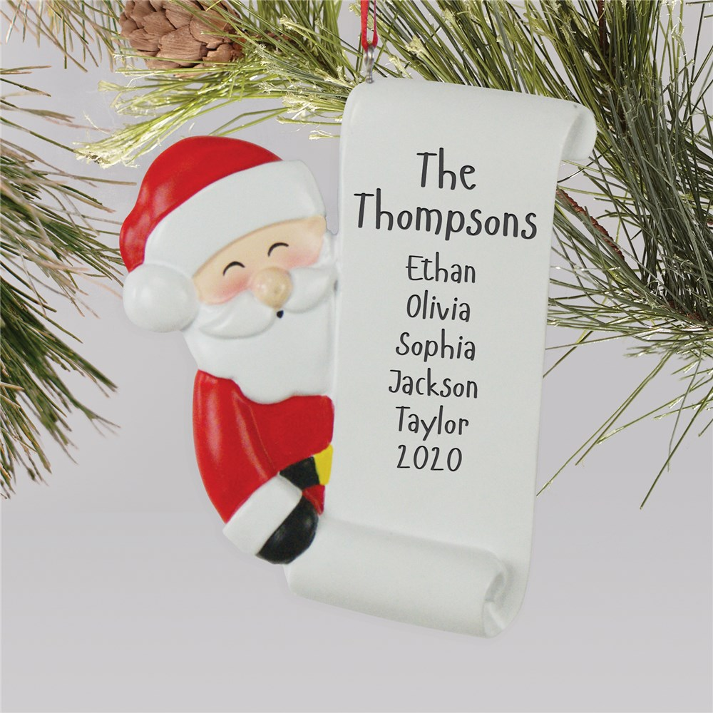 Christmas Ornaments | Personalized Santa's List Ornament