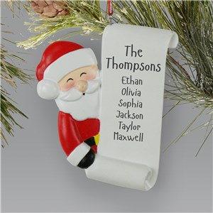 Personalized Santa Holding List Ornament L13611243