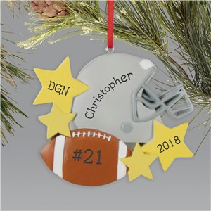 Personalized Football Ornament L13613261
