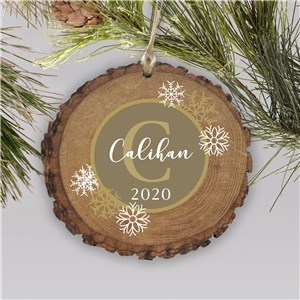 Dashing Through The Snow Plaid Wood Personalized Ornament | Rustic Christmas Ornaments