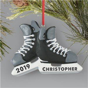 Personalized Hockey Ornament | Personalized Hockey Skate Ornament