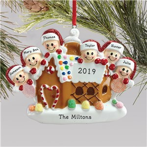 Personalized Family Ornament | Gingerbread Ornament For Family