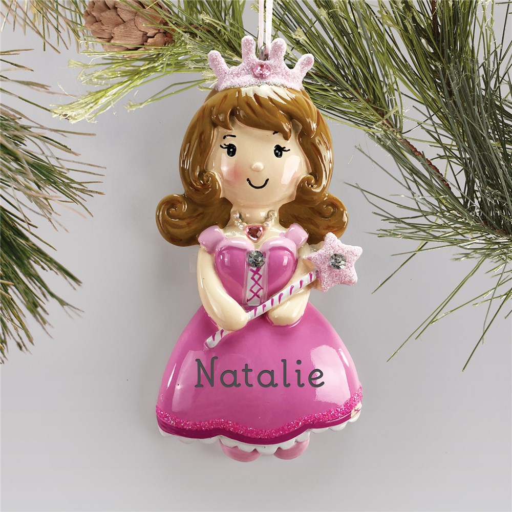 Princess Ornament | Pink Personalized Princess Ornament