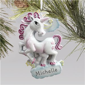 Unicorn Ornament | Unicorn Ornament With Name