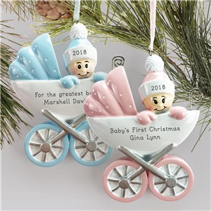 Personalized Baby Carriage Ornament  L13784226X
