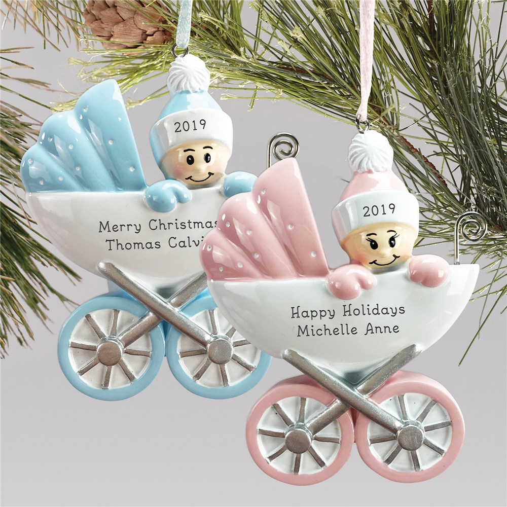 New Baby Ornament | Baby Carriage Ornaments
