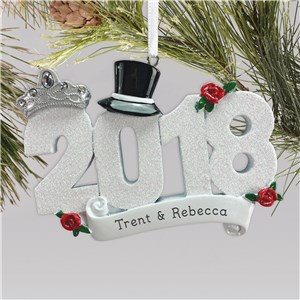 2018 Wedding Ornament | Personalized Wedding Ornament