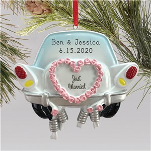 Personalized Wedding Ornaments | Just Married Newlywed Ornament