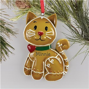 Personalized Cat Ornaments | Cat Gingerbread Ornament