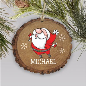 Santa Wood Ornament | Personalized Rustic Santa Ornament