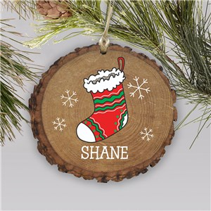 Personalized Stocking Wood Ornament | Stocking Wood Ornament with Name