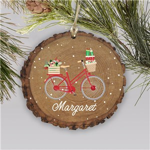 Personalized Bicycle Wood Ornament L13804166