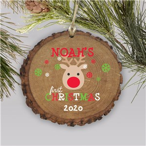 Personalized First Christmas Wood Ornament | Wood Ornament For Newborn