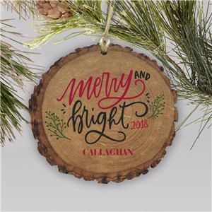 Merry & Bright Personalized Barky Ornament L13809166