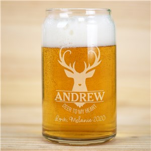 Valentine Gifts For Buys | Personalized Beer Can Glass